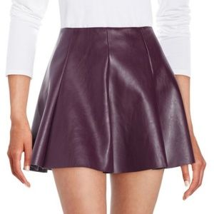 EUC Design Lab Faux Leather Mini Skirt